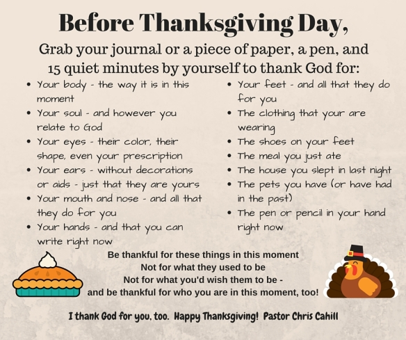 Before Thanksgiving Day,
